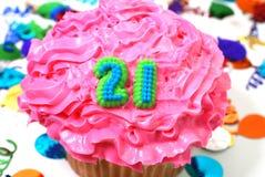 21 świętowania babeczki numer Zdjęcie Stock