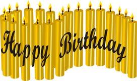 21 свечка дня рождения счастливо Стоковое Изображение