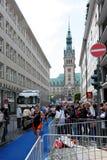 21.07.2012 Hambourg. Dextro Triathlon d'énergie Image libre de droits