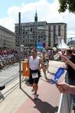 21.07.2012 Hambourg. Dextro Triathlon d'énergie Photo stock