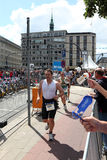 21.07.2012 Hamburgo. Triathlon Dextro da energia Foto de Stock