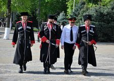 21 2012 Kwiecień cossack krasnodar parada Rus Obrazy Royalty Free