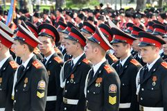 21 2012 Kwiecień cossack krasnodar parada Rus Zdjęcie Stock
