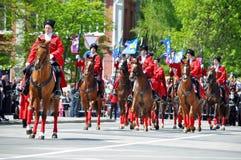 21 2012 Kwiecień cossack krasnodar parada Rus Zdjęcie Royalty Free