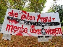 21 demonstracja Stuttgart Fotografia Royalty Free
