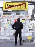 21 demonstracja Stuttgart Obraz Stock