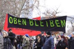 21 demonstracja Stuttgart Obrazy Royalty Free