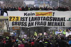 21 demonstracja Stuttgart Zdjęcie Royalty Free