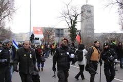 21 demonstracja Stuttgart Zdjęcia Stock