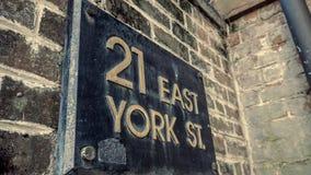 21 East York Street Stock Photography