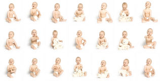21 Faces Of Boy Royalty Free Stock Image