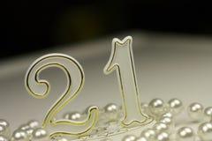 21. Geburtstagzeichen Lizenzfreie Stockfotografie