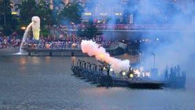21-gun salute during NDP 2011 stock photos