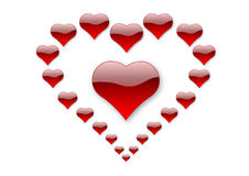 21 hearts of love Stock Photo