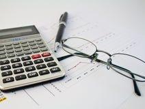 21 kalkulatora wykresu pióro Zdjęcia Stock
