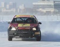 21. traditionelles Rennen spielt Za rulyom in Moskau die Hauptrolle Stockbild