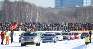 21. traditionelles Rennen Stars Za rulyom Stockbilder