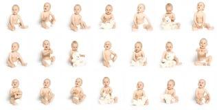21 visages de garçon Image libre de droits