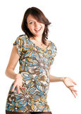 21-Wochen-glückliche schwangere Frau Stockbilder