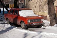 2101 samochodu kopeyka stary sowiecki vaz Obrazy Stock