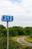 212 kilomètres Images libres de droits