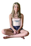 升空瑜伽 免版税库存图片
