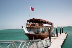 单桅三角帆船乐趣qatari 免版税图库摄影