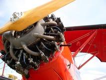 双翼飞机红色 免版税库存照片
