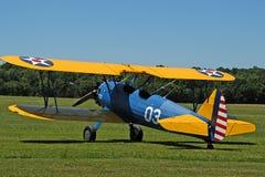古色古香的双翼飞机no1 免版税库存图片