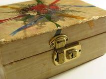 古色古香的配件箱珠宝 免版税图库摄影