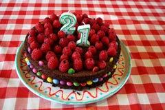 21ra torta de cumpleaños Fotografía de archivo