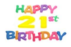21ro cumpleaños feliz Imagen de archivo libre de regalías