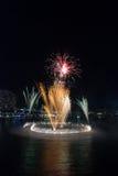 21ros fuegos artificiales del cumpleaños del puerto querido Imagen de archivo libre de regalías