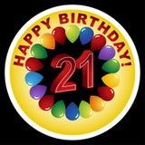 21st день рождения счастливый бесплатная иллюстрация