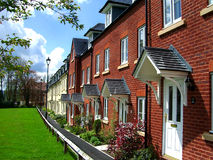 21st Century terrace. Terrace of new fashionable urban housing stock images