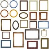 22个不同框架照片 库存照片