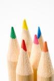 22支色的铅笔 免版税库存照片