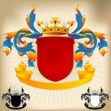 22条胳膊外套自定义徽标 免版税库存图片