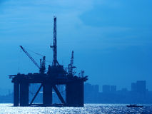 22石油平台 免版税库存图片