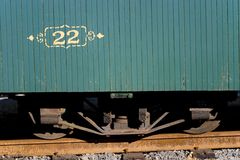 22. Old steam train on rusted tracks royalty free stock images