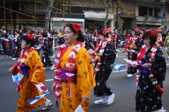 22 aires buenos celebra jap n 免版税库存图片