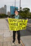22 anty apec Honolulu zajmuje protest Obrazy Royalty Free