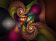 22 art fractal optical plastics διανυσματική απεικόνιση