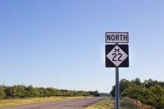 22 autostrada sceniczna m Obraz Royalty Free