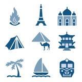 22 błękit ikony set Zdjęcia Stock