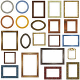 22 different picture frames. Isolated on white Stock Photo