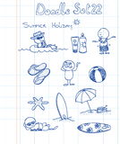 22 doodle śmieszny set Obraz Royalty Free