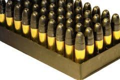 .22 Gewehrkugeln in einem Tellersegment Lizenzfreie Stockbilder