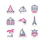 22 koloru konturowa ikon sieć Obraz Royalty Free