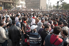 22 November 2011: New Clashes in Egypt Royalty Free Stock Images